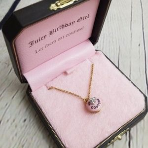 Juicy Couture Birthday Girl Pink Cupcake Necklace
